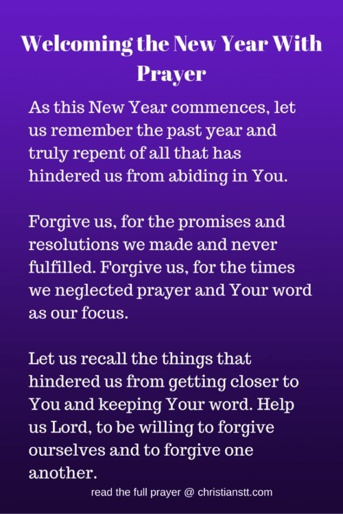 Prayer to Welcome the New Year 2019!
