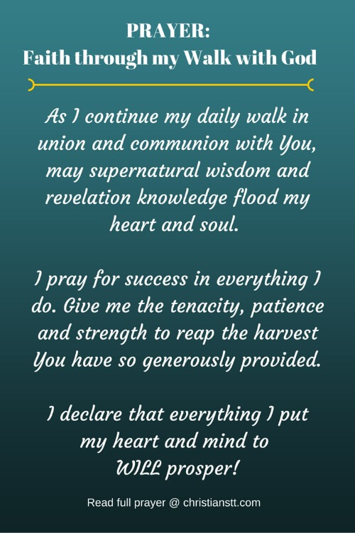 PRAYER: Faith through my Walk with God