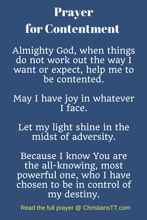 Prayer for Contentment