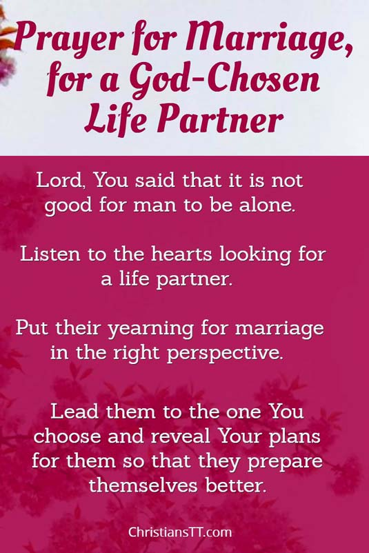 Prayer for Marriage, for a God-chosen partner