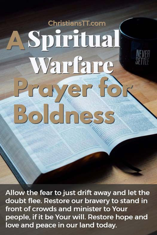 Spiritual Warfare Prayer for Boldness