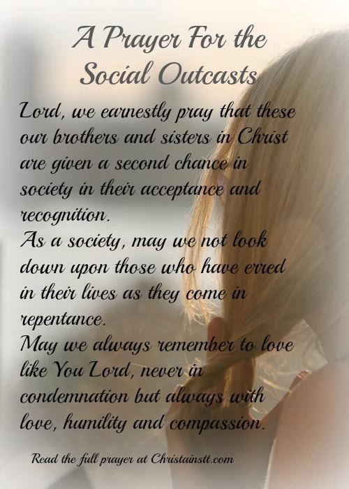 prayer for social outcasts