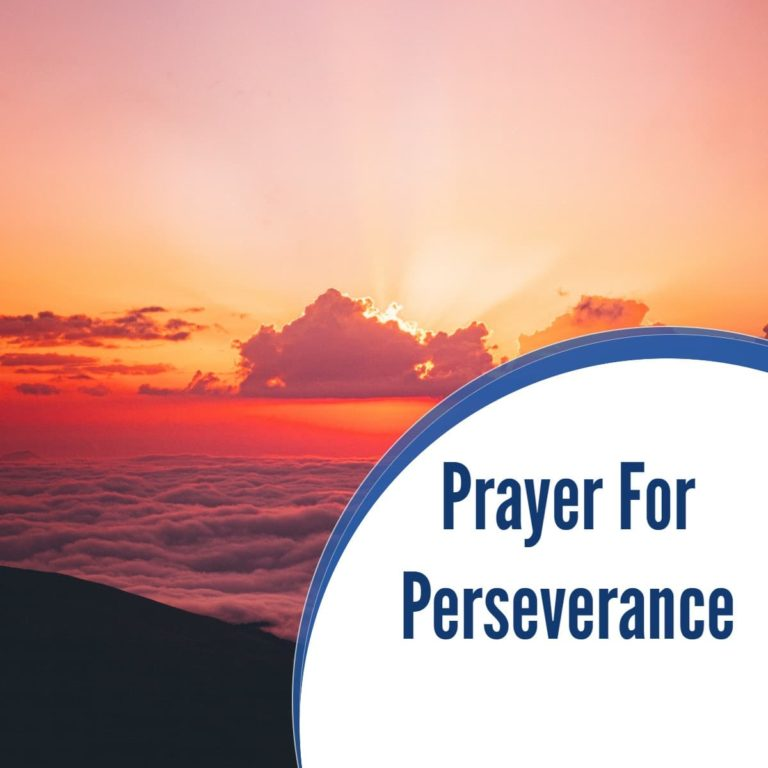 Prayer for Perseverance