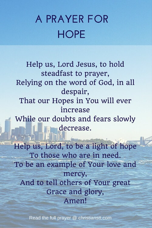 A PRAYER FOR HOPE
