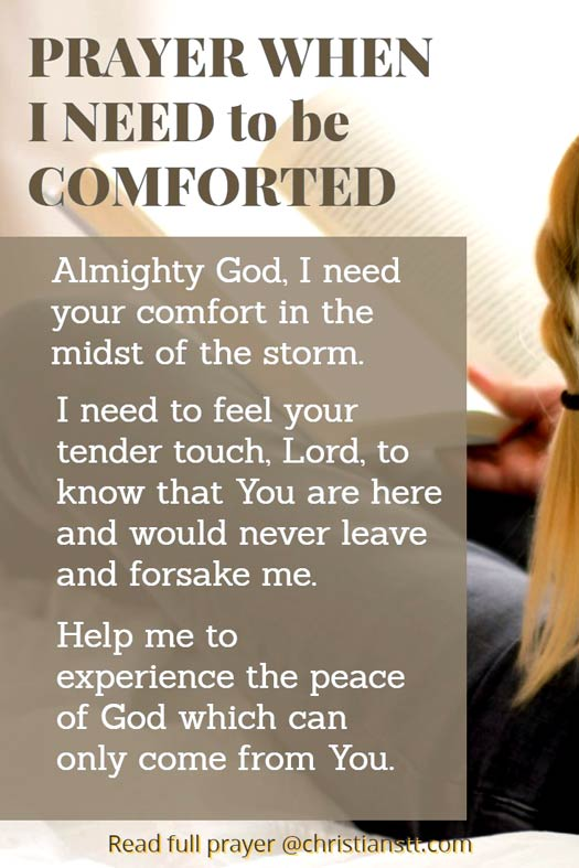 Prayer when I need to be comforted
