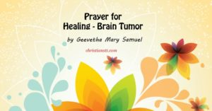 Prayer for Healing – Brain Tumor