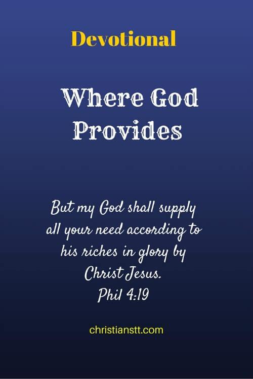 DewDrops – Where God Provides