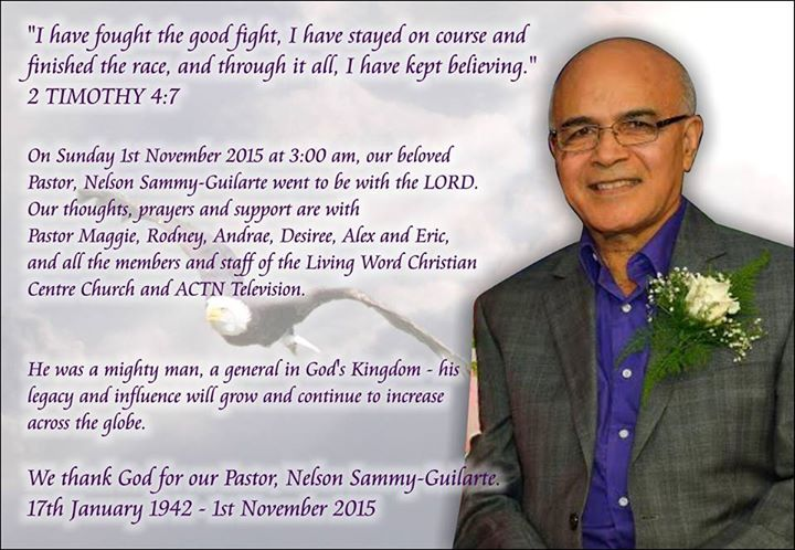 Pastor Nelson Sammy-Guilarte passes away