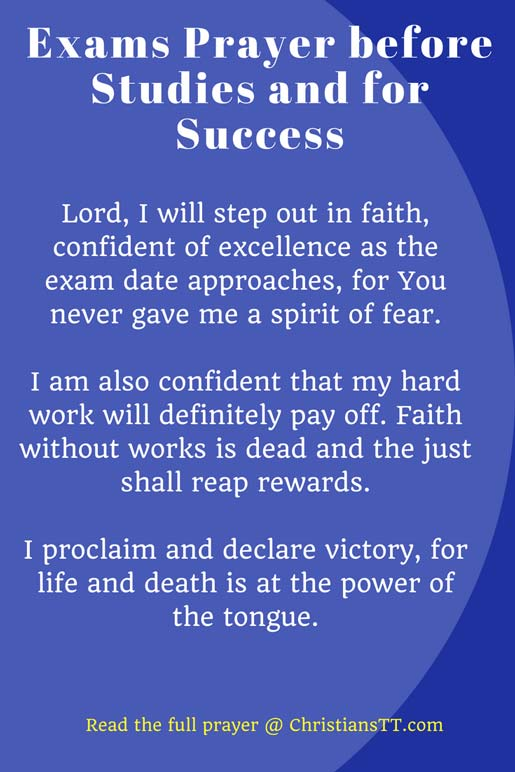 Exams Prayer before Studies and for Success
