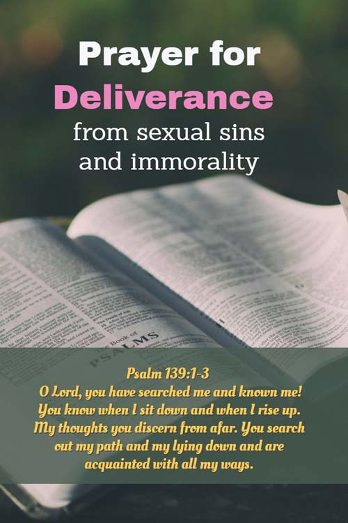 Prayer for Deliverance from sexual sins and immorality
