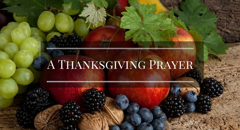 a thanksgiving prayer