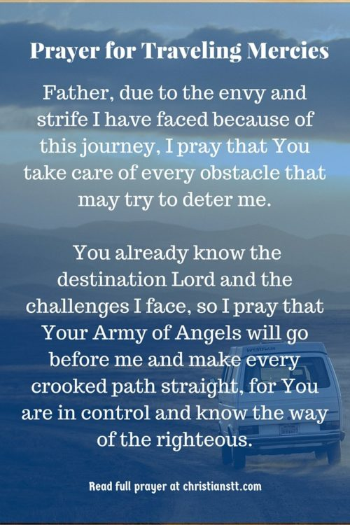 pin prayer for traveling mercies