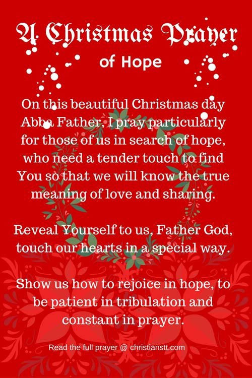 A Christmas Day Prayer Of Hope Christianstt