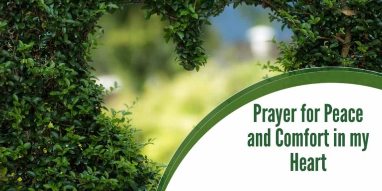 Prayer for Peace and Comfort in Your Heart
