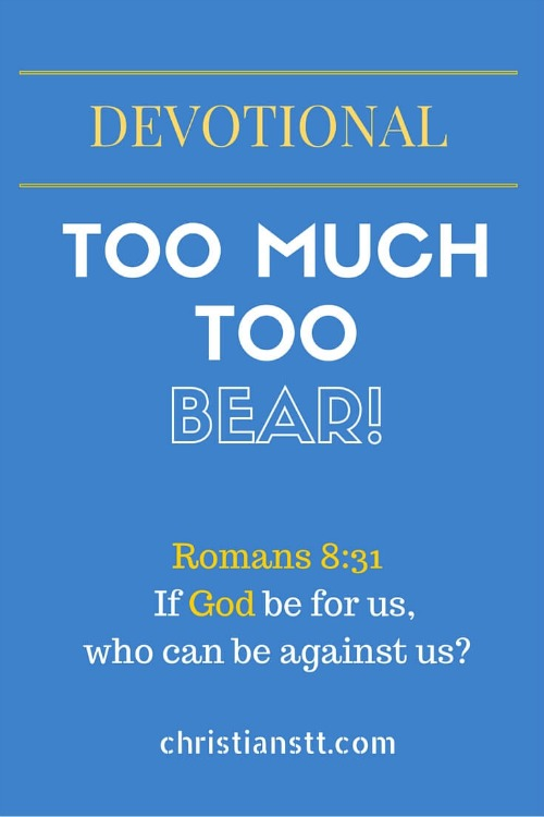 DEVOTIONAL - Too much to bear