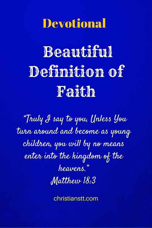 Devotional – Beautiful Definition of Faith