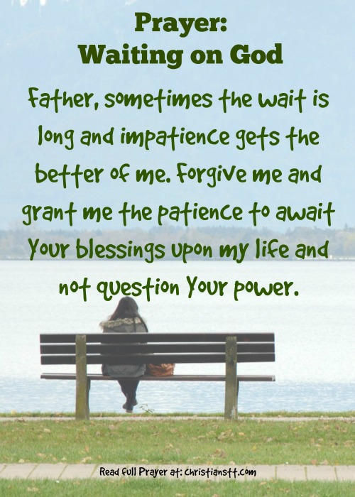 Prayer- waiting on God