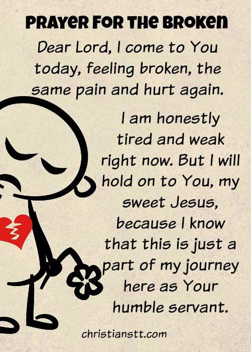 Prayer for the broken
