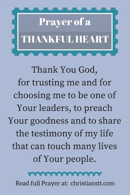 Prayer for a Thankful Heart