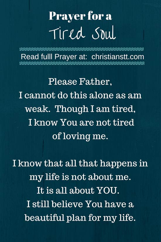 Prayer for a tired soul-pin