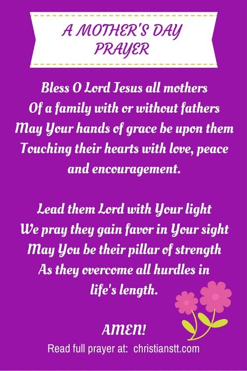Mother's day prayer pin