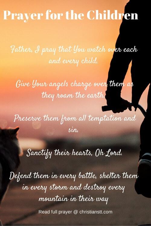 Prayer for the Children pin