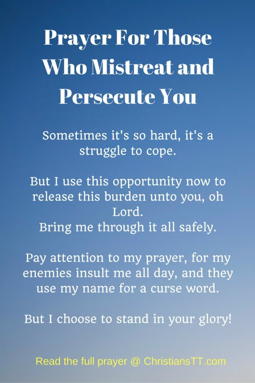 Prayer For Those Who Mistreat and Persecute You - ChristiansTT
