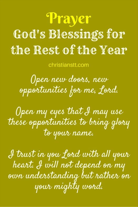 Prayer - God's Blessings for the Rest of the Year - pin