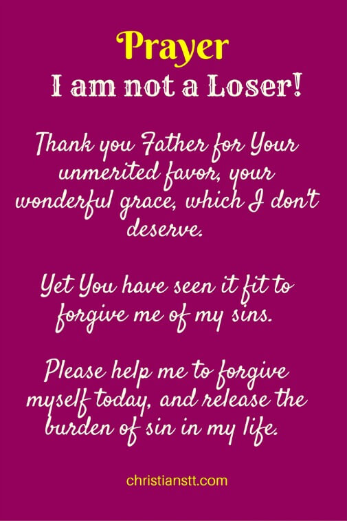 Prayer - I am not a Loser! pin