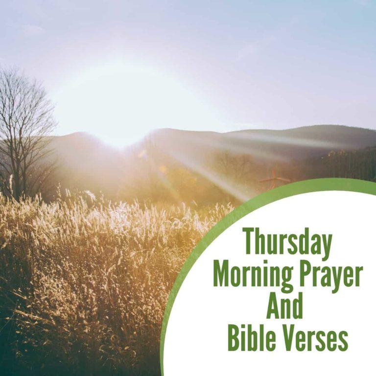 Thursday Morning Prayer and Bible Verses