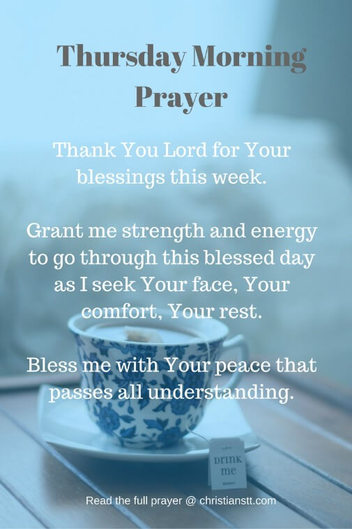 Thursday Morning Prayer And Bible Verses Christianstt
