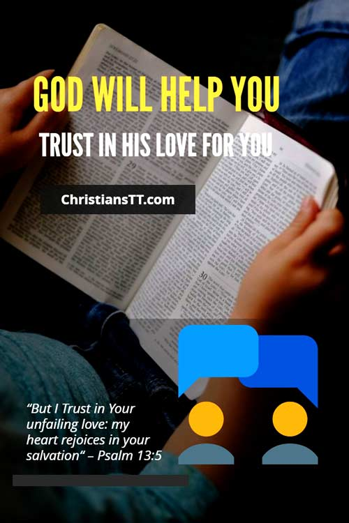 God Will Help You, Trust in His Love For You