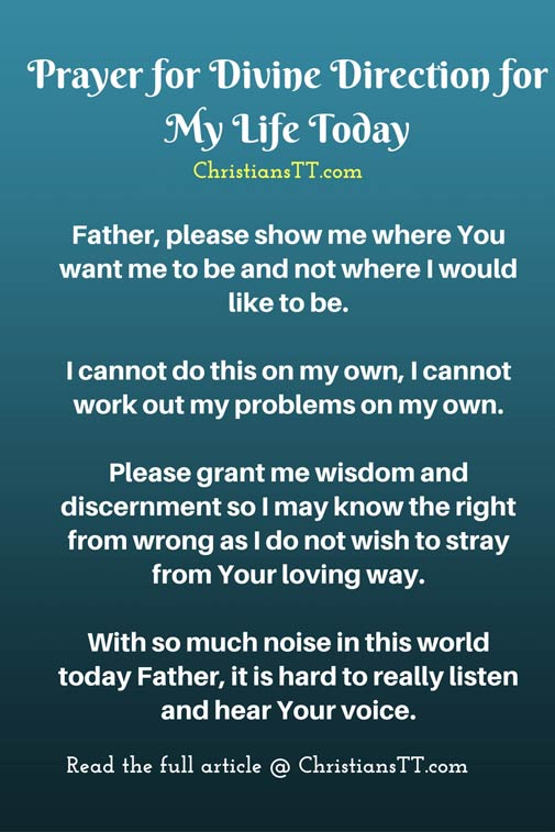 Prayer for Divine Direction for My Life Today - ChristiansTT