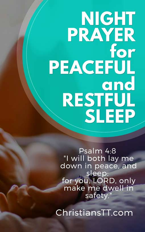 Good Night and Evening Prayer for Peaceful and Restful Sleep
