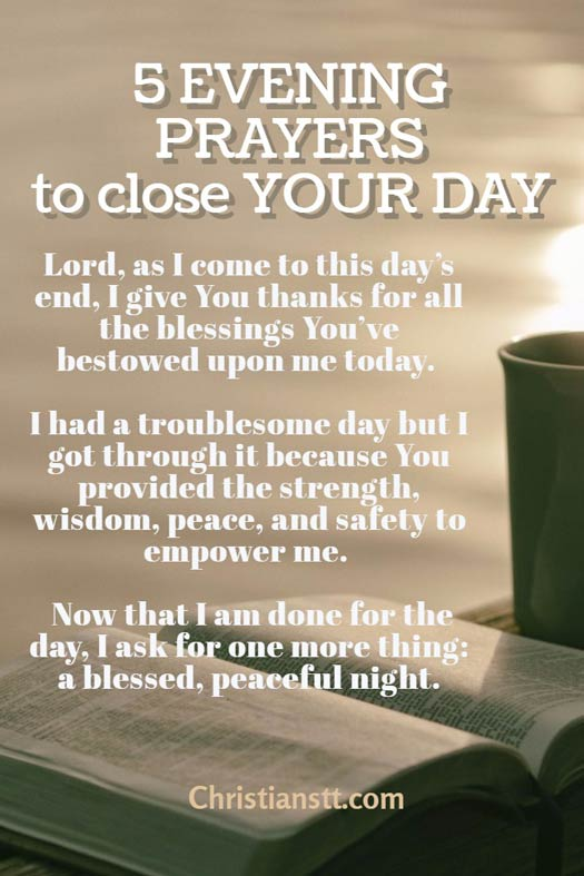 5 Evening Prayers to Close Your Day pin
