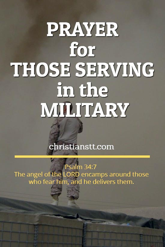 Prayer for Those Serving in the Military