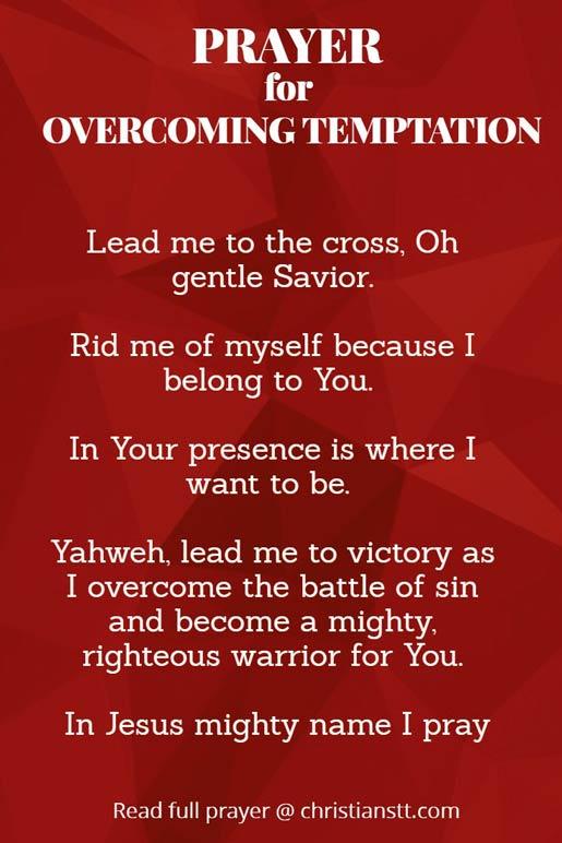 Prayer for overcoming temptation