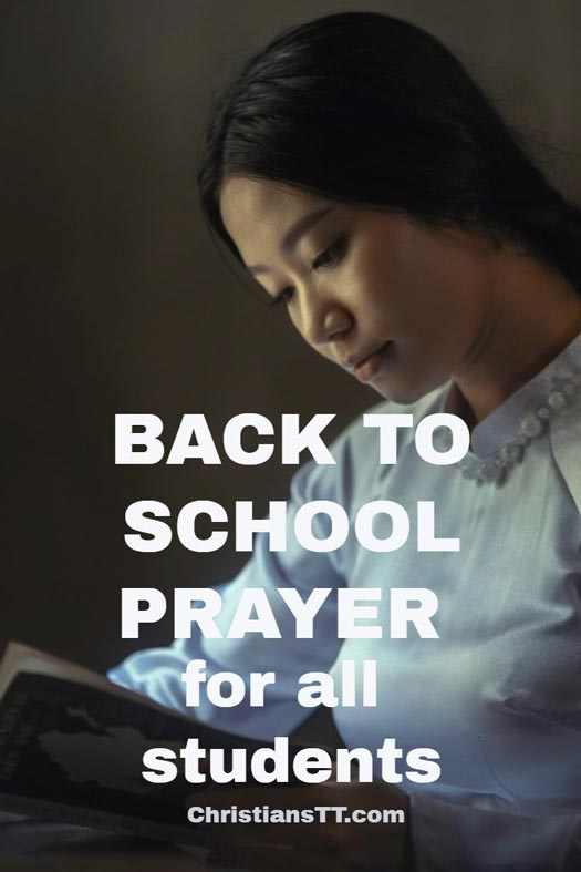 Back to school prayer for all students