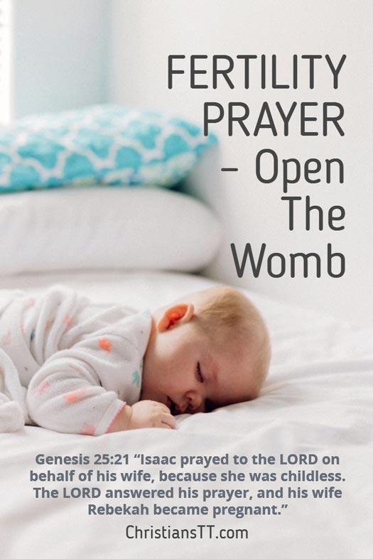 FERTILITY PRAYER – Open The Womb