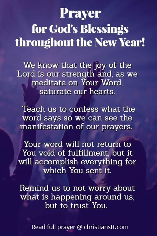 Prayer for Blessings throughout the New Year!
