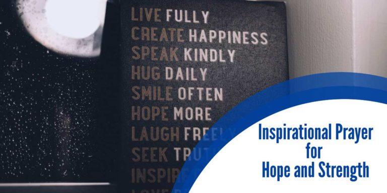 Inspirational Prayer for Hope and Strength