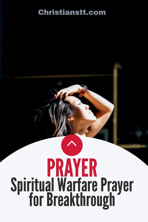 Spiritual Warfare Prayer for Breakthrough