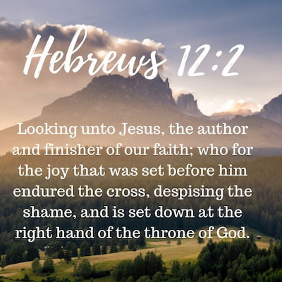 Hebrews 12:2 - Looking unto Jesus the author and finisher of our faith; who for the joy that was set before him endured the cross, despising the shame, and is set down at the right hand of the throne of God.