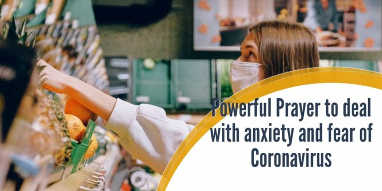 Powerful Prayers for anxiety and fear of Coronavirus