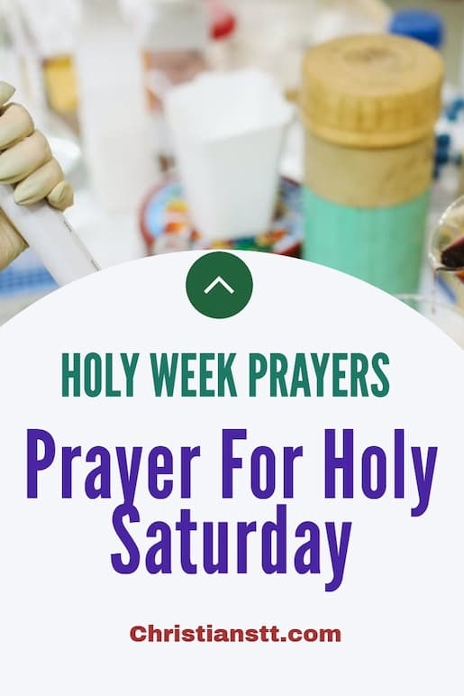 Prayer For Holy Saturday