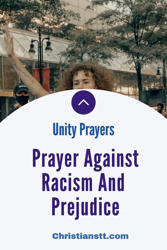 Prayer Against Racism And Prejudice