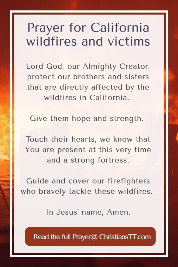 Prayer for California wildfires and victims