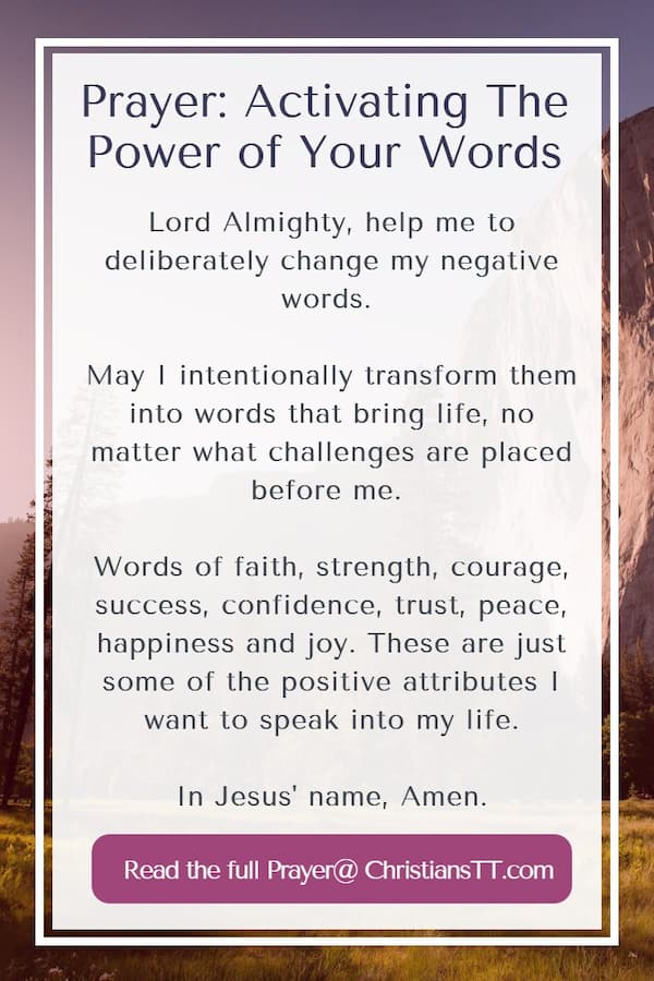Prayer: Activating The Power of Your Words