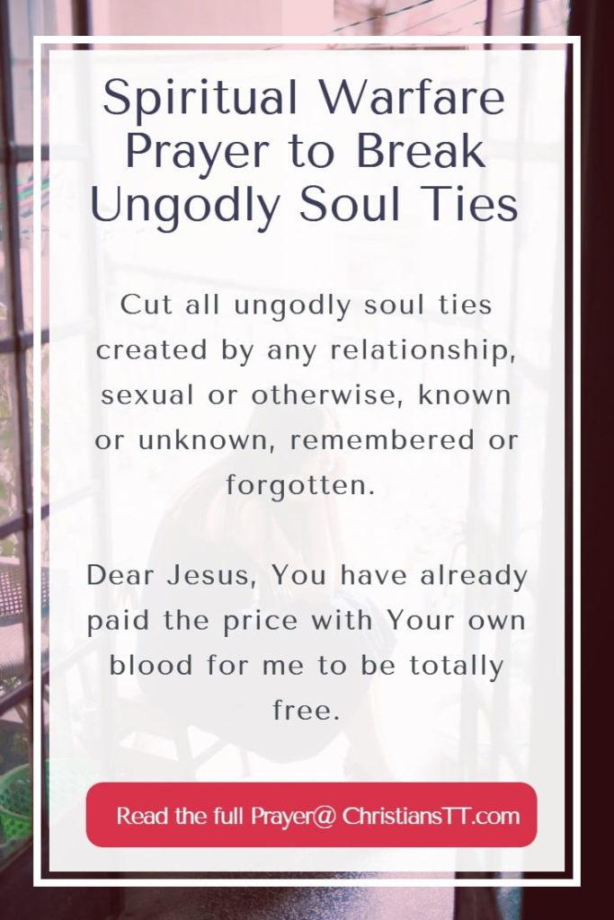 Spiritual Warfare Prayer to Break Ungodly Soul Ties