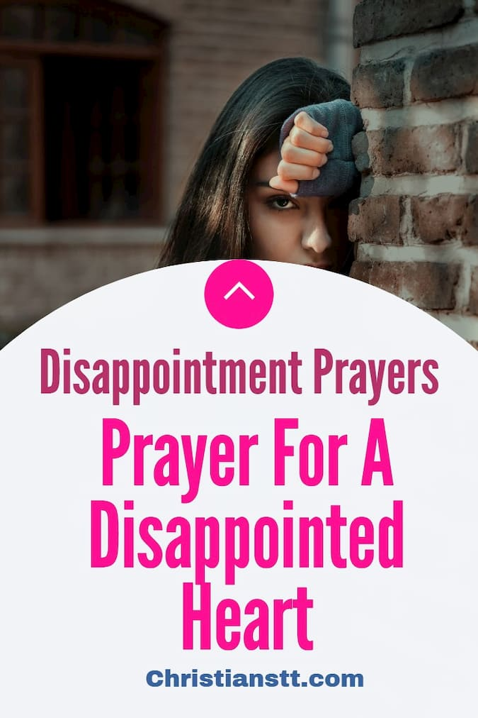 Prayer For A Disappointed Heart pin